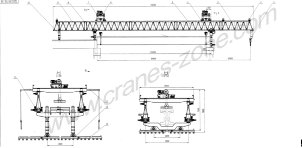 PVC Housing Overhead Crane Parts Ease Installation Multi Pole Bus Bar Conductor System