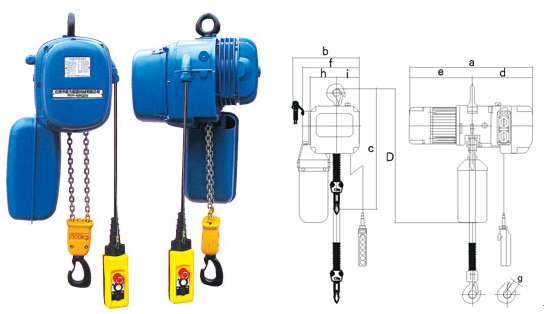 SHH Electric Chain Hoists With Capacity Range 0.25T to 20T 0