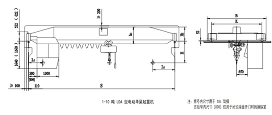 Heavy Duty Single Beam Overhead Crane To Heavy Machine Shops , Paper Mills
