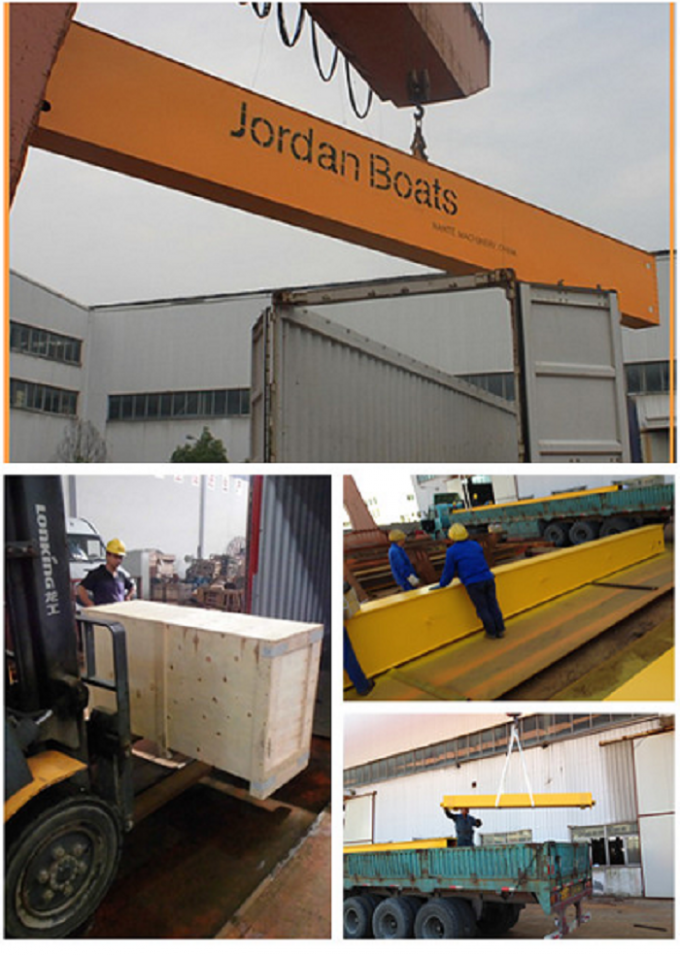 MDG50t - 40m - 20m Yard L - Shape Gantry Crane With A Running Surface Plate