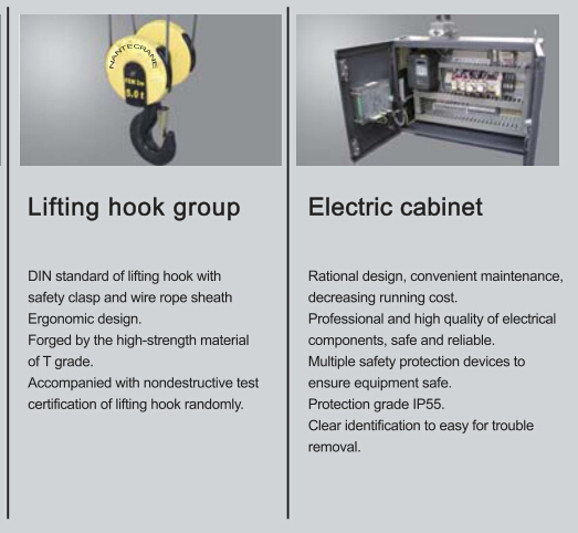 Electric Single Girder/Double Girder Wire Rope Hoist