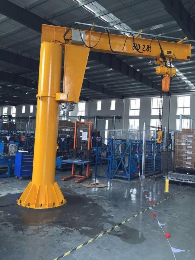 BZD - 7t Free Standing Electric Jib Crane Use For Manufacture , Assembly Plant