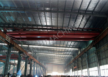 China QD25t - 5t - 22m Double Girder Overhesd Cranes For Transporting Loads supplier