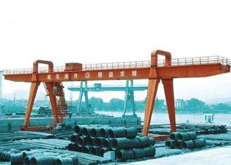 China MG100t - 38m - 20m Box Girder Yard A-Shape Crane Gantry For machinery factory supplier