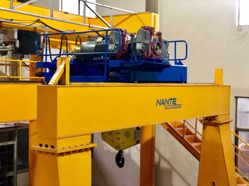 China Double Girder Wire Rope Mini Electric Hoist / Winch With Trolley In Yellow supplier