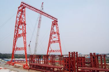 China OEM Rubber Tyred Steel Gantry Crane With Trolley supplier