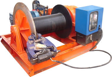 China 15t Lifting Load Electric Cable Hoist Winch Consisting Of A Horizontal Cylinder supplier