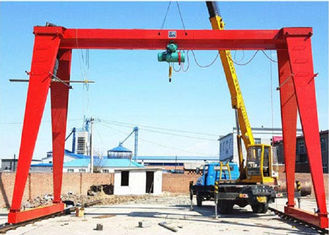 China ISO Box Type MH 5T - 9M Single Girder Gantry Crane For Indoor / Outdoor Use supplier
