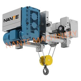China 2T Ultra Low Headroom Hoist NHA Wire Rope Electric Power Hoist For Workshop supplier