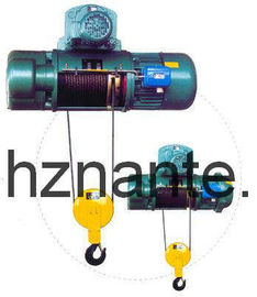 China 5 Tons Electric Wire Rope Underhang Hoist CD / MD Lifting Equipment CE Passed supplier