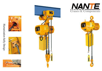 Yellow 1 T NCH Series Electric Chain Hoist Lifting Equipment With Hook