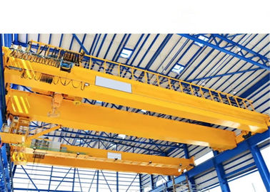 China 20t Double Girder Overhead Crane with 20m Span in Yellow A5 working duty supplier