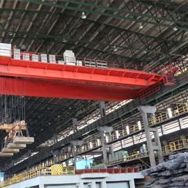 China Steel Plant Double Beam Overhead Crane Controled By Crane Cabin For Steelworks supplier