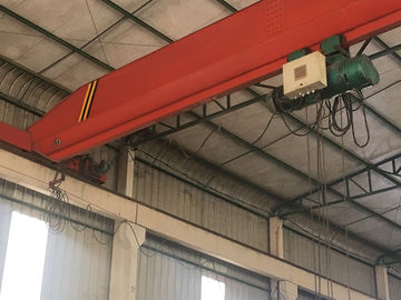 China Red Single Girder Bridge Crane Overhead Travelling Crane With Chinese Configuration supplier