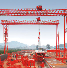 China QM Truss Girder Double Beam Overhead Gantry Electric Rail Mounted / 40T- 42M - 20M / supplier