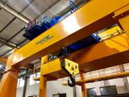 China Double Girder Electric Low Headroom Hoist Winch Trolley For Chemical Industry factory