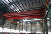 China Custom Electric Traveling Double Girder Overhead Cranes For Machine Shops factory