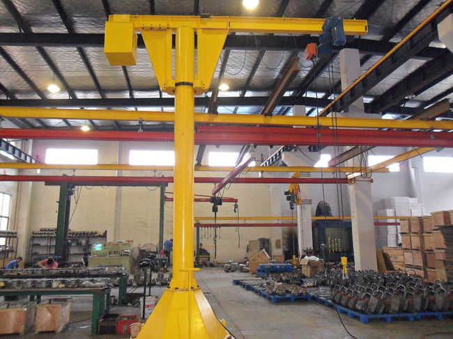 Overhead Crane 500kg : Custom slewing movable jib cranes with kg max lifting