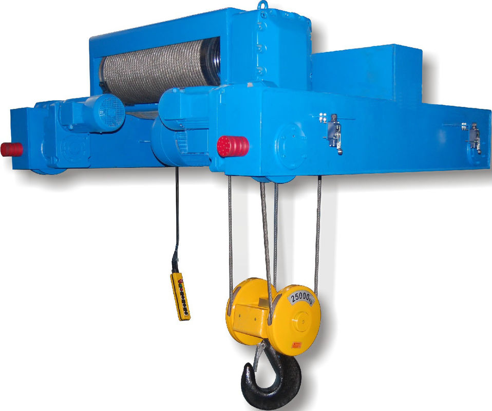 Double Girder Electric Wire Rope Hoists SHA Type Electric Chain ...