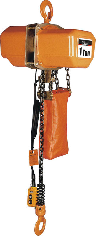 Energysaving Motor Solid Chain Bucket Electric Chain Hoists For Heavy