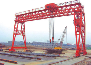 China Red Economical 70t Truss Gantry Crane For Stockyards / Machinery Factory distributor