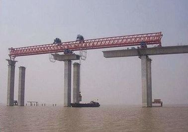 China JQG420T-50M Beam launching gantry crane used to launching bridge factory