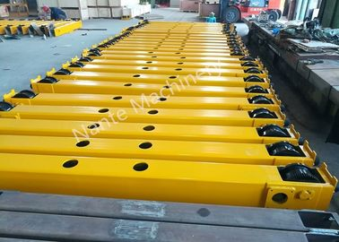 China Overhead And Gantry Crane Open Gear End Carriage / Crane Components Light Duty distributor