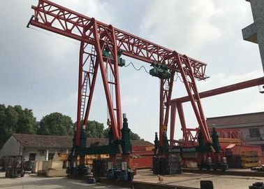 China Single girder gantry crane which could climb stairs / 60T-20m -9m/ distributor