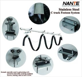 China Electrification Mobile Crane Parts C Track Cable Trolley  Festoon System factory