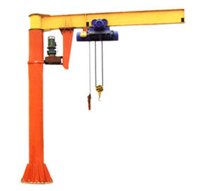 China Sturdy Steel Structure Pillar Motorized Jib Cranes for Fitting Fabrication Workstations distributor