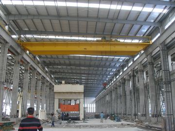 China QD20t-22m Double Girder Overhead Cranes Travelling with Sturdy Cylindrical Motors distributor