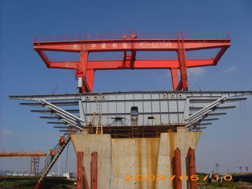 China Bridge Beam Segment Lifter Crane Launched by Hydraulic System With Steel Wheel distributor
