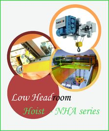 China 10 Ton Wire Rope Low Headroom Hoist , Electric Lifting Overhead Crane Hoist factory