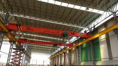 China Single Girder Overhead Cranes 7.5ton + 7.5 ton in One Line IP56 Protection factory