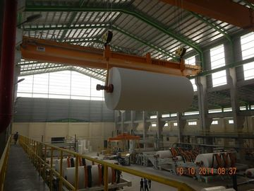 China 10 Ton 20m Heavy Duty Single EOT Crane For Paper Mill Workshop distributor