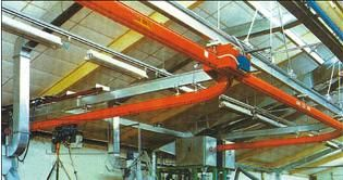 China Single Track Suspension Light Crane Systems With Single-track , Single Beam distributor