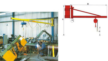 China BZ3t Light Duty Wall Mounted Slewing Jib Cranes for Plant Room Maintenance factory